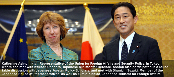 She's 'Big In Japan'. Catherine Ashton,