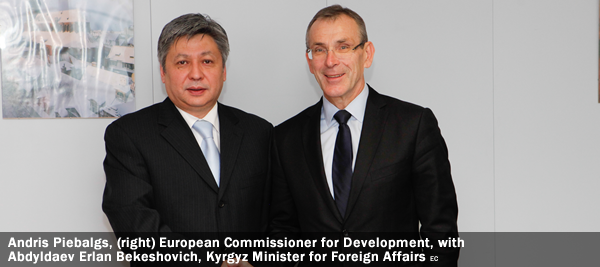 Andris Piebalgs, Member of the EC in charge of Development, received Abdyldaev Erlan Bekeshovich, Kyrgyz Minister for Foreign Affairs.