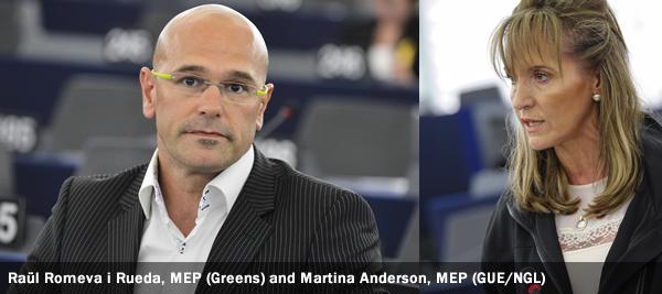 Raül Romeva i Rueda (Greens), Martina Anderson, GUE/ NGL