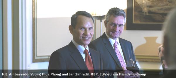 H.E. Ambassador Vuong Thua Phong and Jan Zahradil, MEP, EU-Vietnam Friendship Group
