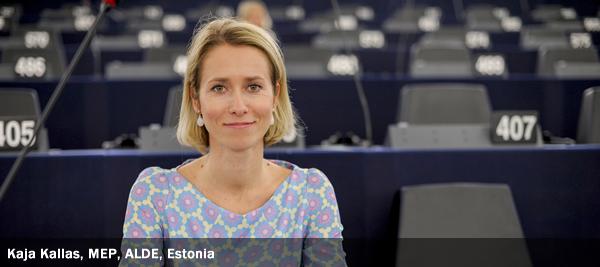 Kaja Kallas, MEP, ALDE, Estonia