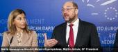 Maria Giuseppina Nicolini,Mayor of Lampedusa, Martin Schulz, EP President
