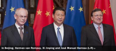 Herman van Rompuy, Xi Jinping and José Manuel Barroso
