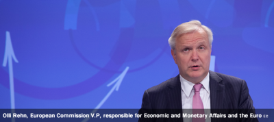 Olli Rehn, Vice-President of the EC in charge of Economic and Monetary Affairs and the Euro