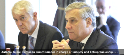 Antonio Tajani, Vice-President of the EC in charge of Industry and Entrepreneurship