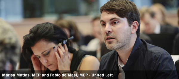 Marisa Matias, MEP and Fabio de Masi, MEP - United Left