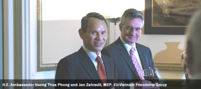 H.E. Ambassador Vuong Thua Phong and Jan Zahradil, MEP, EU-Vietnam Friendship Group