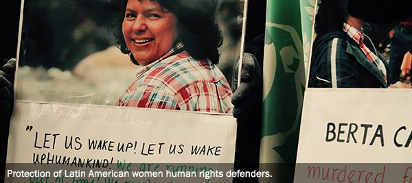 Protection of Latin American women human rights defenders